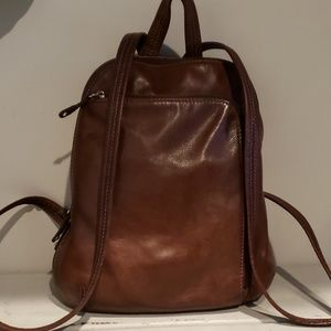 Tignanello leather backpack/purse